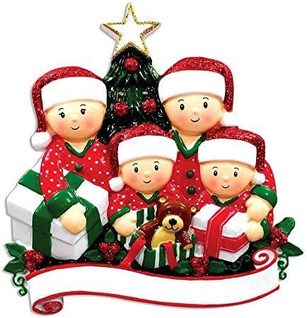 Christmas Morning Presents Opening 2020 Amazon.com: Personalized Family of 4 Opening Presents Christmas