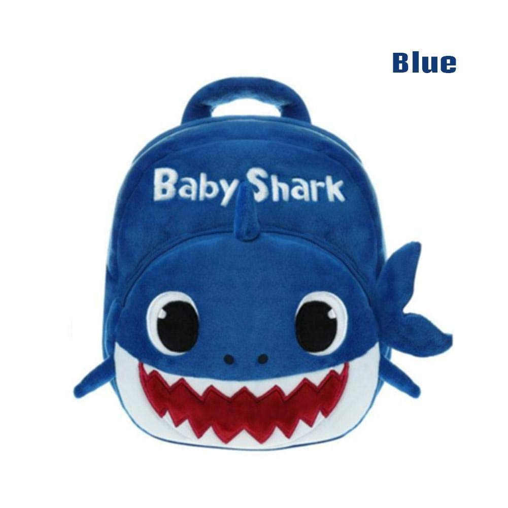 Yellow Baby Shark Backpack Plush Cute Cartoon Animal Bag Children Kids School Gift SchoolDinosaur