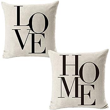 """Amazon NYKKOLA 18 X 18"""" Decorative Cotton Linen Throw Pillow"""