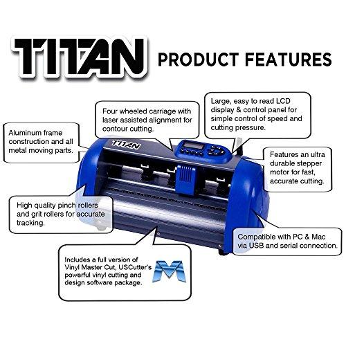Uscutter 15 inch table titan vinyl cutter with vinylmaster for Craft vinyl cutter reviews