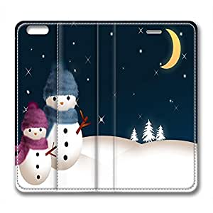 DIY Christmas Gift Design Leather Case for Iphone 6 Night