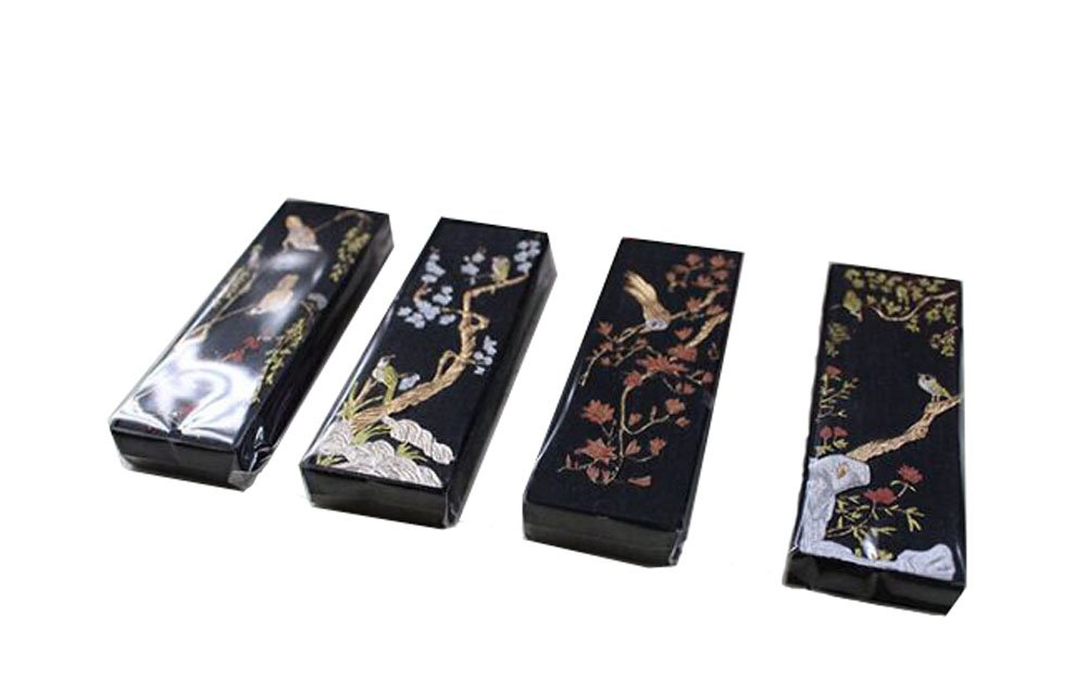Four Pieces Of Ink Block Exquisite Gift Box Packaging£¨Flowers And Birds£