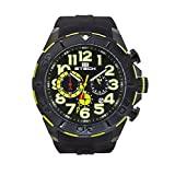 BTECH Men's Quartz Stainless Steel and Silicone Casual Watch, Color:Black (Model: BT-CM-322-02)