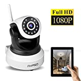 AKASO IP Security Wifi Camera 1080P Wireless Video Surveillance Monitor Home Indoor Webcam, 1920×1080, Pan/Tilt, Night Vision, Two Way Audio, SD Card Slot ( IP2M-903 )
