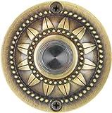 Waterwood Solid Brass Pearl Bloom Doorbell in Antique Brass