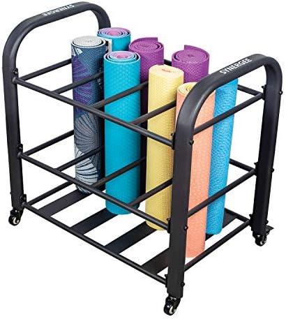 Synergee Yoga Mat Storage Rack Storage Cart