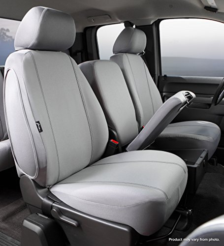 20 Front Split Seat - Fia SP87-35 GRAY Custom Fit Front Seat Cover Split Seat 40/20/40 - Poly-Cotton, (Gray)