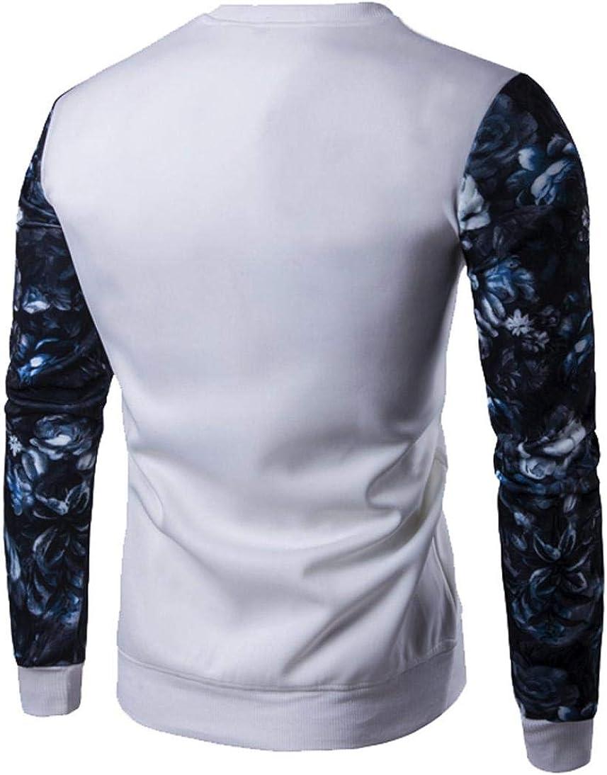 Camisa de Manga Larga con Estampado de Flores de Manga Larga y ...