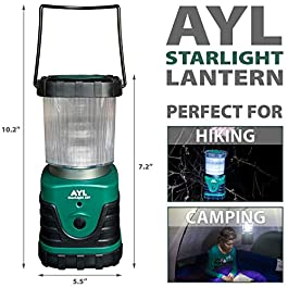 AYL Starlight – Water Resistant – Shock Proof – Battery Powered Ultra Long Lasting Up to 6 Days Straight – 1000 Lumens Ultra Bright LED Lantern – Perfect Camping Lantern for Hiking, Camping
