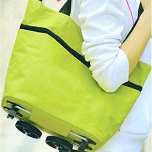 à Portable Supermarché Main Bandoulière à Sfit Sac à Pliables Vert Shopping Provisions Sacs Sacs 39cmx49cmx28cm qWwF70