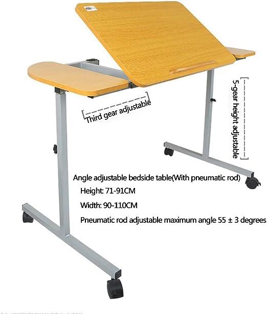 HSRG - Mesa de Hospital Ajustable, Mesa de Escritorio portátil ...