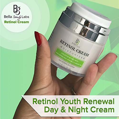 510i2nUWONL - Retinol Moisturizer Anti Aging Cream for Face and Eye Area - With Hyaluronic Acid - 2.5% Active Retinol - Vitamin E - Reduce Appearance of Wrinkles and Fine lines - Best Day and Night Face Cream