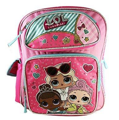 L.O.L Surprise! Large School Backpack 16'' Book Bag Pink LOL bag New lol
