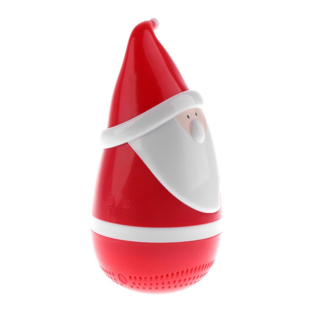 monkeyjack Miniクリスマスサンタクロースタンブラー形状、Roly - Poly Bluetoothスピーカーの音楽再生音楽オーディオスピーカー B077DYK92J