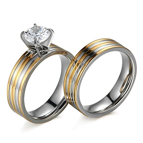 Besteel Stainless Zirconia Wedding Engagement