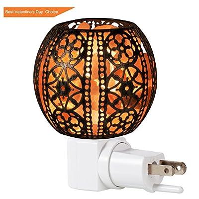Himalayan Salt Lamp, FilFom Natural Himalayan Salt night light in Lantern/Butterfly Design