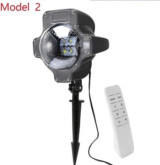 WSYYWD Proyector LED luz de nieve jardín exterior imagen paisaje proyector luz luces de Navidad foco: Amazon.es: Iluminación