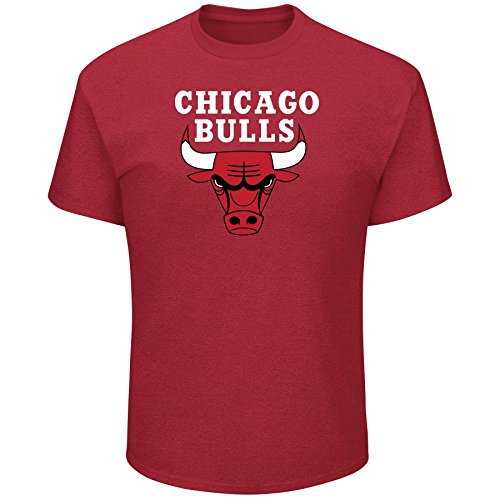 NBA Chicago Bulls Short Sleeve Screen Tee, Red/Heather, 3X/Tall