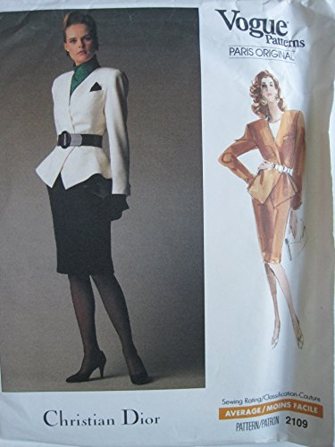 Vogue Pattern 2109 Vogue Paris Original Misses'/Misses' Petite Jacket & Skirt Sizes ()