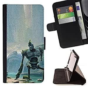 KingStore / Leather Etui en cuir / Sony Xperia Z1 L39 / Gigante de hierro