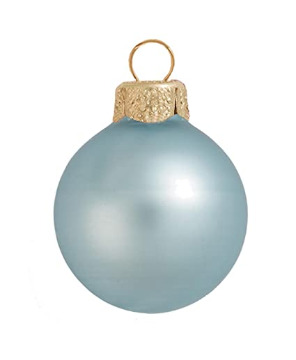"""40ct Matte Baby Blue Ball Christmas Ornaments 1.25"""" ... - Amazon.com: 40ct Matte Baby Blue Ball Christmas Ornaments 1.25"""
