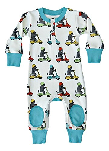 Infant Newborn Scooter - Cat & Dogma - Certified Organic Playsuit - Scooter (6-12 Months)