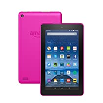 "Fire Tablet with Alexa, 7"" Display, 8 GB, Magenta - with Special Offers (Previous Generation - 5th)"