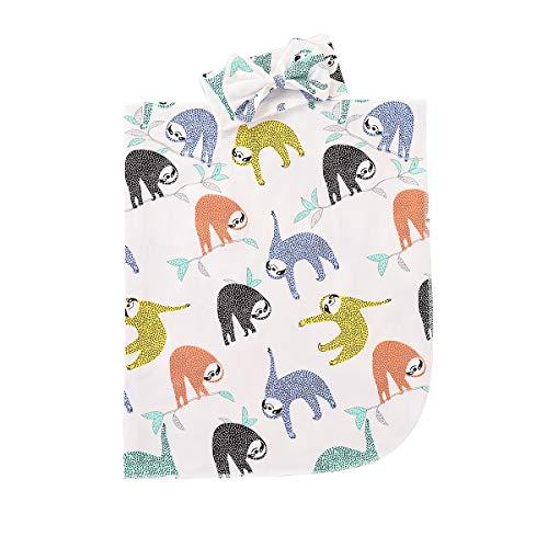 (Newborn Receiving Blankets Elephant Baby Swaddle Wrap Soft Zoo Animals boy swaddling Blanket …)