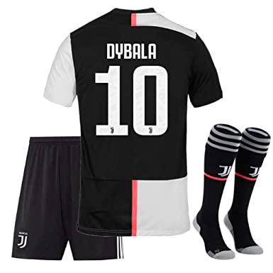 check out b0e30 c200e 2019-2020 Season Juventus #10 Dybala Kids/Youth Home Soccer Jersey & Shorts  & Socks