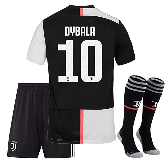 finest selection 7f297 e3105 New Season 2019-2020 Juventus Dybala 10 Home Kids/Youths Soccer Jersey  Shorts and Socks Color White/Black