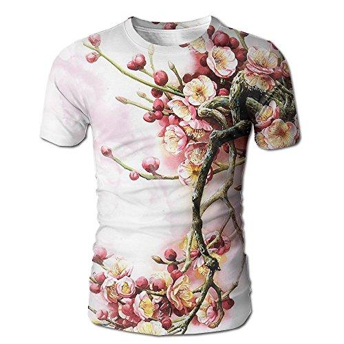 (Men's T-Shirt Plum Blossom Winter Sweet Short Sleeves Tee )
