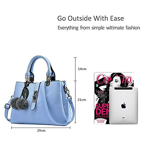 for ladies pahajim women handbags new for bag bag ladies female female Blue women Wathet packet handbag new handbag wave Messenger bag handbags HwHqU8