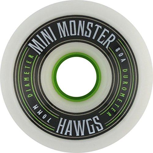 期待するあそこ中性Hawgs Wheels Mini Monster White Skateboard Wheels - 70mm 80a (Set of 4) by Hawgs Wheels