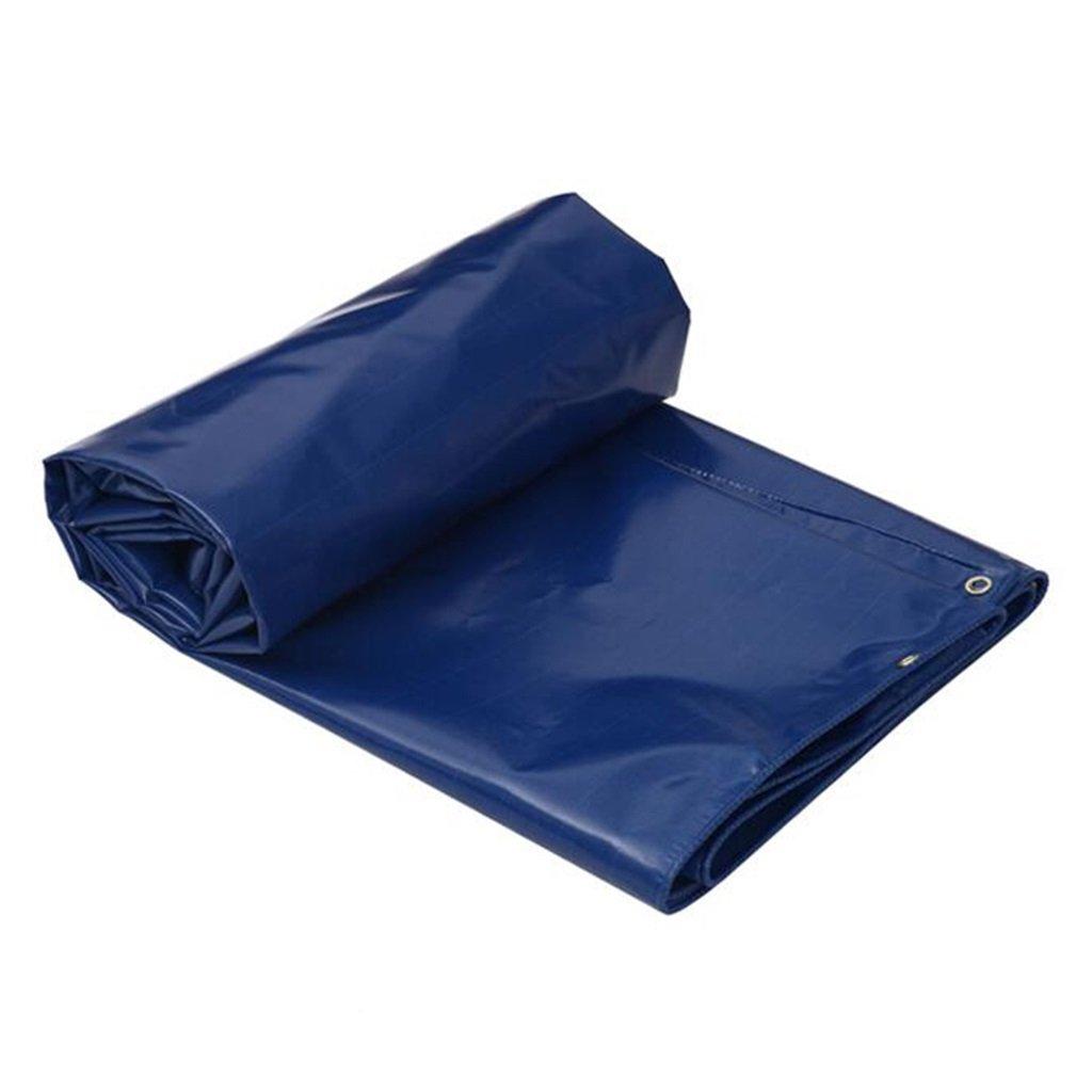 Plane Persenning Blaue wasserdichte Plane 550g   m² Zelt-Unterlage für das Kampieren und im Freien - UV geschützt, Stärke 0.5mm, Multi-Größe Wahlen Abdeckplanen (größe   6MX4M)