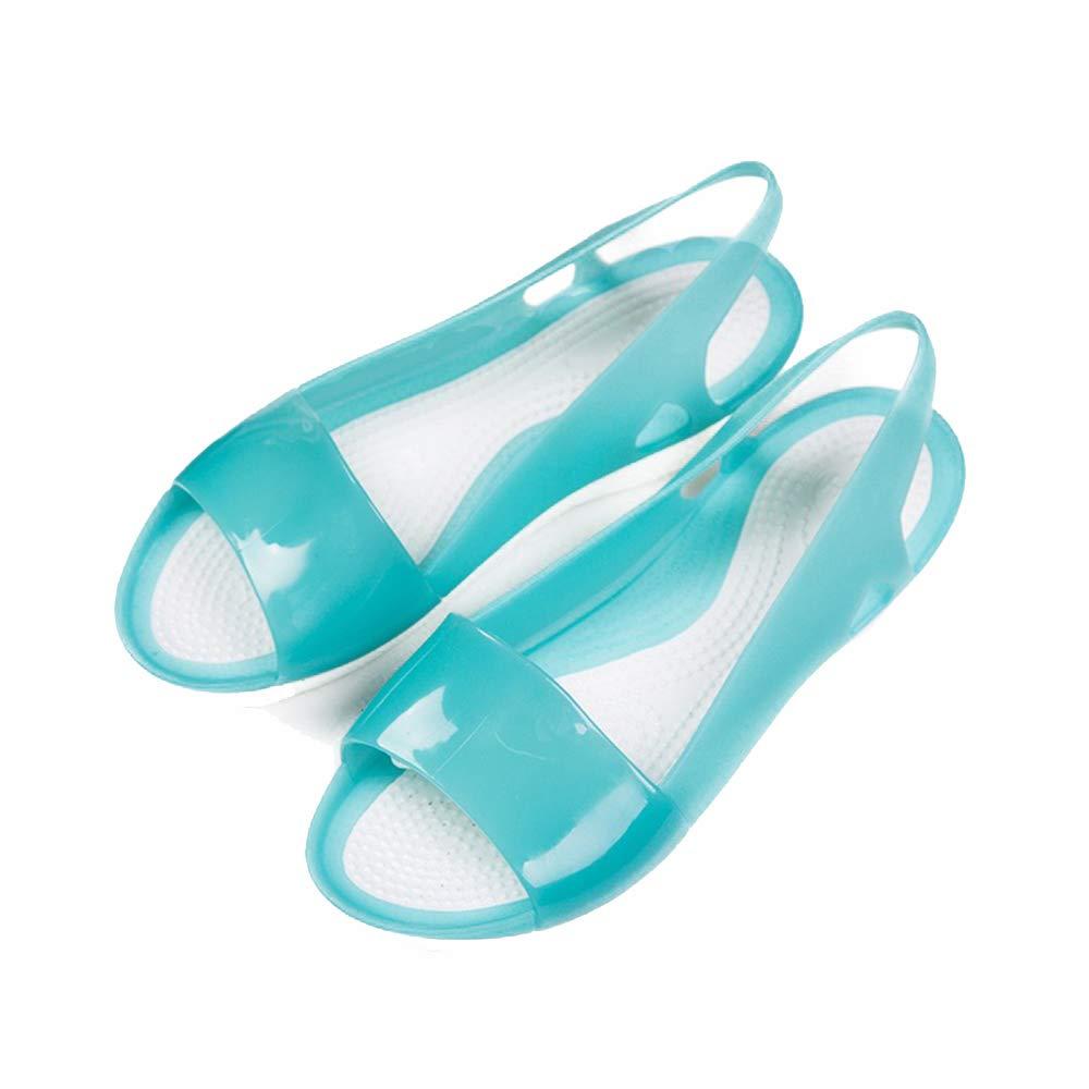 heipeiwa New Women Jelly Sandals Slingback Back Strap Casual Summer Beach Flats Sandals