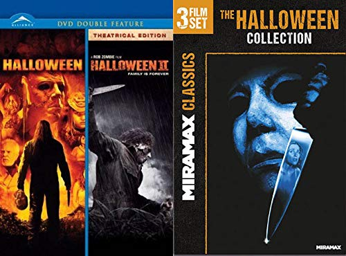Michael Myers Super Pack: Rob Zombie's Halloween/ Halloween 2 & Miramax Classics: The Halloween Collection- Halloween H20/ Halloween Resurrection/ Halloween The Curse of Michael Myers (5 Movie Bundle)
