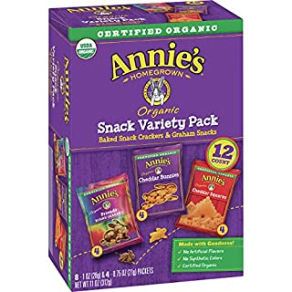 Annie's Variety Pack, Cheddar Bunnies, Bunny Grahams, Cheddar Squares, 12 ct