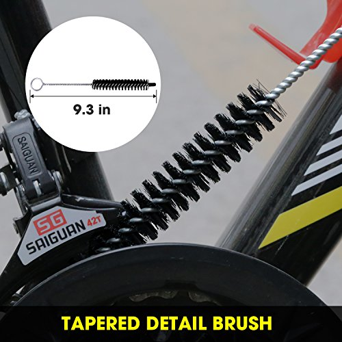 SINGARE 7pcs Bicycle Cleaning Tools Set, Bicycle Clean Brush Kit Suitable Mountain, Road, City, Hybrid, BMX Folding Bike by SINGARE (Image #6)
