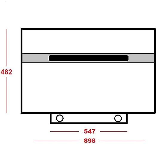 1 Kohlefilter Dunstabzugshaube 25 Kopffrei Schräg Wand Haube Weiß 90cm 850 m3