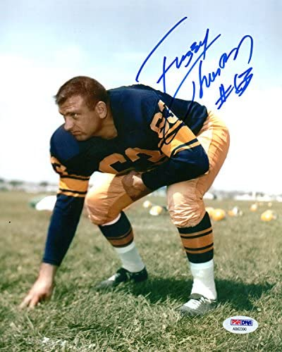 Autographed Fuzzy Thurston 8x10 Green Bay Packers Photo