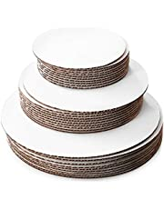 30 Pack Cake Boards 10 of Each Size Round, Circle Cardboard Base, 6, 8 and 10-Inch. Perfect for Cake Decorating, 10 of Each Size