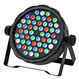54 LED RGB Stage Lights Colorful Disco Light Automatic Control Flat Par Lights Sound Activated Stage Light DMX 512 Control DJ Stage Lighting Magic Color Wash Light for Bar Club Christmas Wedding Part