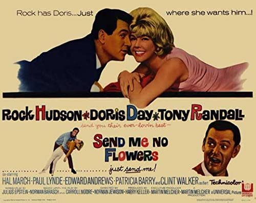 Image result for send me no flowers poster