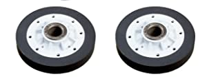 37001042 Dryer Drum Roller Replacement for Maytag, Amana,Whirlpool,Speed Queen. (Pack of 2 Rollers)