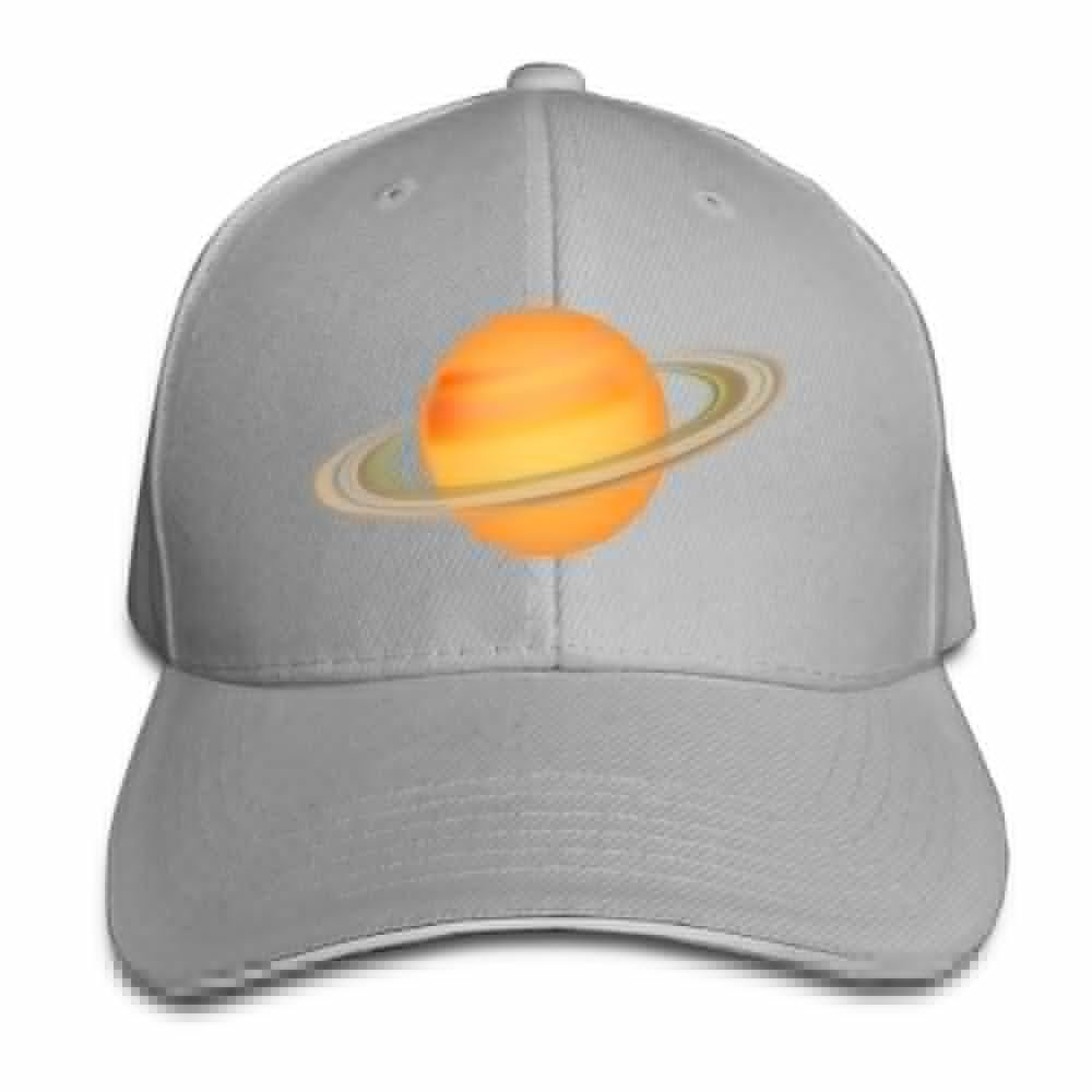 Teesofun Unisex Sandwich Peaked Cap Orange Planet Funny Logo Adjustable Cotton Baseball Caps