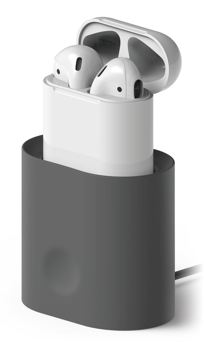 3dd6bfe3651 Amazon.com: elago AirPods Stand [Dark Grey] - [Compatible with Apple AirPods  1 & 2][Charging Station][Long-Lasting][Cable Management] - for AirPods 1 &  2: ...