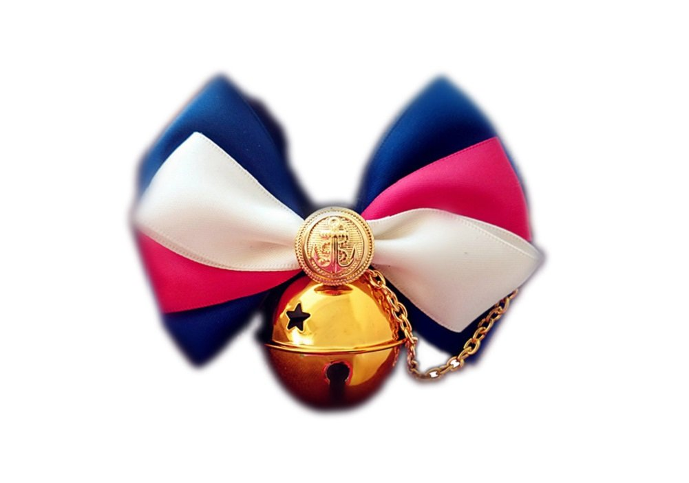 NACOCO Pet Dog Bow Tie Collar Costume Bowknot Tie Navy Style Gold Bell Cat Bowtie Accessory Dog Necklace Adjustable PU Leather Collar Scarf Pet Kitty Puppy (S)