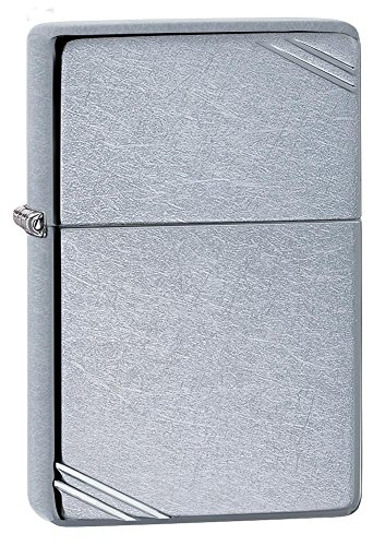 Basic Styles Matte Colors Zippo Outdoor Indoor Windproof Lighter Free Custom Personalized Engraved Message Permanent Lifetime Engraving on Backside (Vintage)