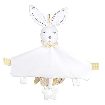 Luchild Bebé Apaciguar Toalla de algodón Suave para recién Nacido Animal Conejo