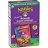 Annie's Friends Bunny Grahams, Honey/Chocolate/Chocolate Chip, Graham Snacks,1.0 oz, 6 Snack Packs (Pack of 6)